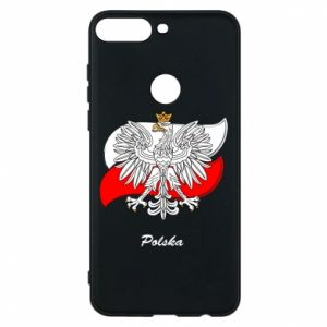 Phone case for Huawei Y7 Prime 2018 Poland Fighting against the background of the flag