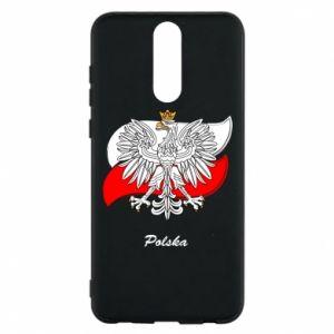 Etui na Huawei Mate 10 Lite Herb Polski na tle flagi