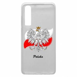 Etui na Huawei P30 Herb Polski na tle flagi