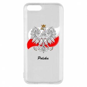 Etui na Xiaomi Mi6 Herb Polski na tle flagi
