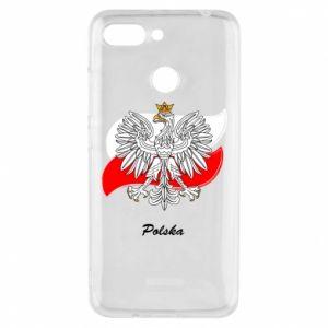 Phone case for Xiaomi Redmi 6 Poland Fighting against the background of the flag