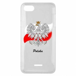 Etui na Xiaomi Redmi 6A Herb Polski na tle flagi