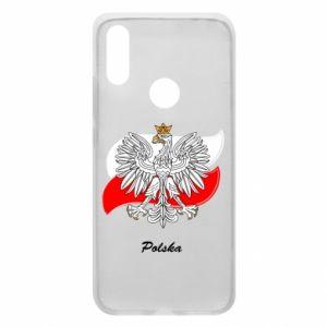 Etui na Xiaomi Redmi 7 Herb Polski na tle flagi