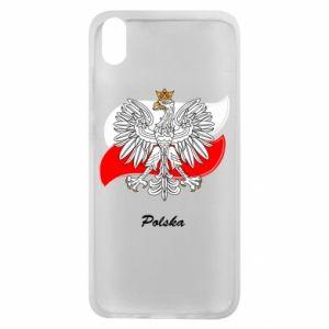 Etui na Xiaomi Redmi 7A Herb Polski na tle flagi