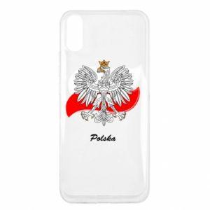 Etui na Xiaomi Redmi 9a Herb Polski na tle flagi