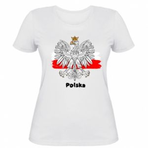 Women's t-shirt Polish emblem