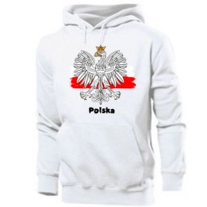 Męska bluza z kapturem Herb Polski