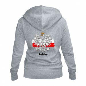 Women's zip up hoodies Polish emblem