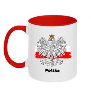 Kubek dwukolorowy Herb Polski