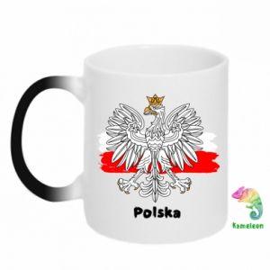 Chameleon mugs Polish emblem