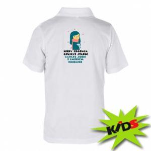 Dziecięca koszulka polo HERBATKA Z IMBIREM