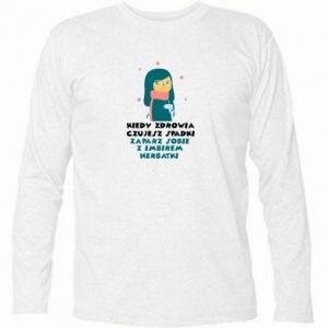 Koszulka z długim rękawem HERBATKA Z IMBIREM
