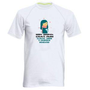 Koszulka sportowa męska HERBATKA Z IMBIREM