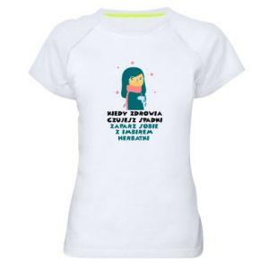 Koszulka sportowa damska HERBATKA Z IMBIREM