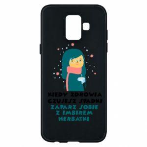 Etui na Samsung A6 2018 HERBATKA Z IMBIREM