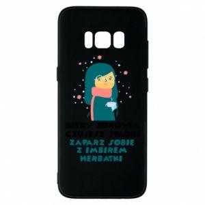 Etui na Samsung S8 HERBATKA Z IMBIREM