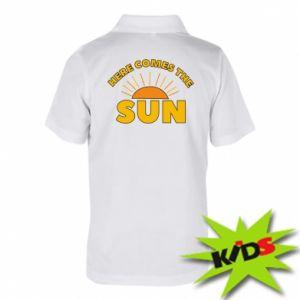 Dziecięca koszulka polo Here comes the sun