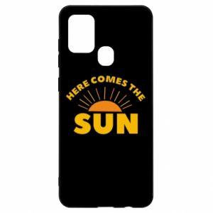 Etui na Samsung A21s Here comes the sun
