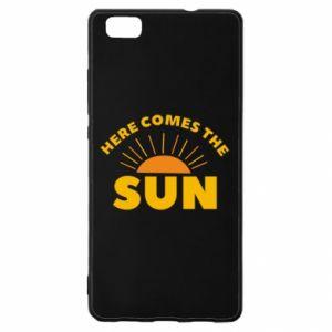 Etui na Huawei P 8 Lite Here comes the sun