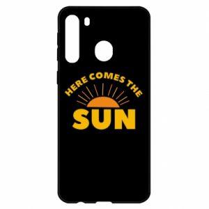 Etui na Samsung A21 Here comes the sun
