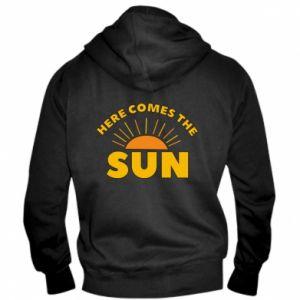 Męska bluza z kapturem na zamek Here comes the sun