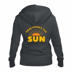 Damska bluza na zamek Here comes the sun