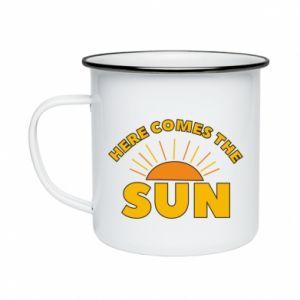Kubek emaliowane Here comes the sun