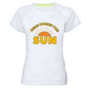 Damska koszulka sportowa Here comes the sun