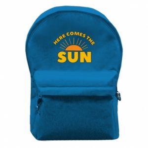 Plecak z przednią kieszenią Here comes the sun