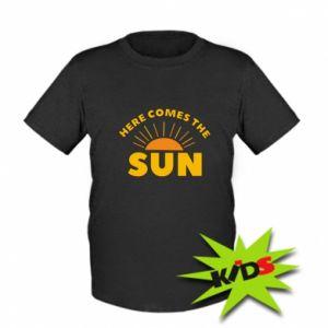 Dziecięcy T-shirt Here comes the sun