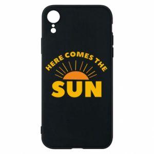 Etui na iPhone XR Here comes the sun