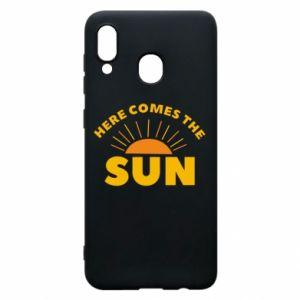 Etui na Samsung A20 Here comes the sun