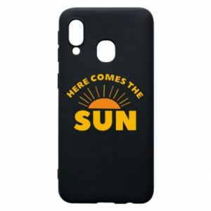 Etui na Samsung A40 Here comes the sun