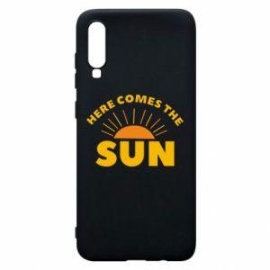 Etui na Samsung A70 Here comes the sun