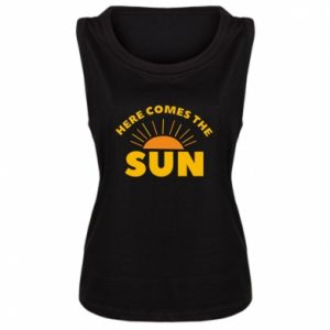 Damska koszulka bez rękawów Here comes the sun