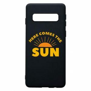 Etui na Samsung S10 Here comes the sun