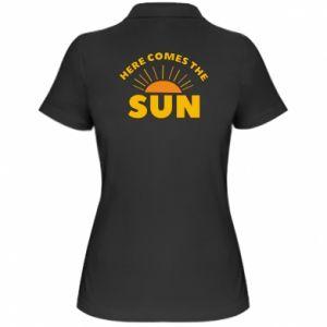 Damska koszulka polo Here comes the sun