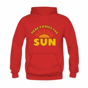 Bluza z kapturem dziecięca Here comes the sun