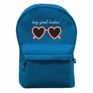 Backpack with front pocket Hey good looking