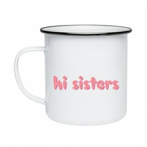 Kubek emaliowany Hi sisters