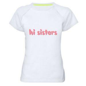 Koszulka sportowa damska Hi sisters