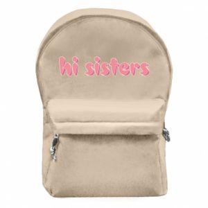 Backpack with front pocket Hi sisters