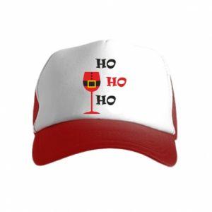 Kid's Trucker Hat HO HO HO Santa