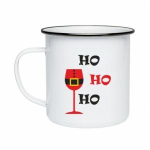 Enameled mug HO HO HO Santa