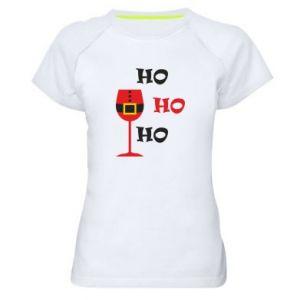 Women's sports t-shirt HO HO HO Santa