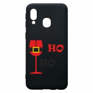 Phone case for Samsung A40 HO HO HO Santa