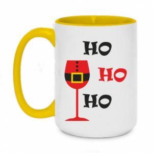 Two-toned mug 450ml HO HO HO Santa