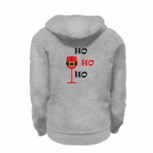 Kid's zipped hoodie % print% HO HO HO Santa