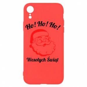 Etui na iPhone XR Ho Ho Ho Święty Mikołaj