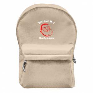 Plecak z przednią kieszenią Ho Ho Ho Święty Mikołaj